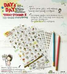 Korea stationery diary decoration sticker girl - a series sticker 2