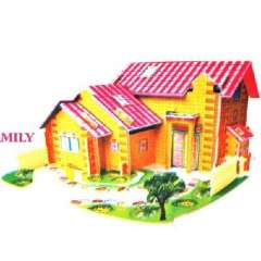 3D three-dimensional jigsaw puzzles small - small farm house ( 1525 )