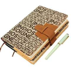 High-end business quality leather letters cover notebook / business / Notepad