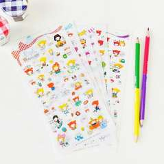 Korea stationery pipi 2 set girl pvc stickers 6