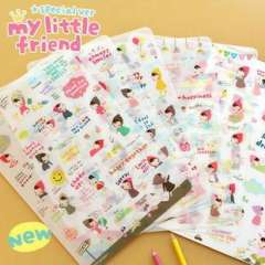 Stationery yst-1008 little red riding hood girl 2 set pvc stickers 6