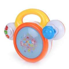 Excellent shellfish than children electric rotating drum music flash hands shoot | color random