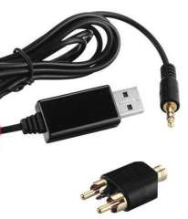 USB Audio Capture Recording Cable RCA 3.5mm to USB Converter