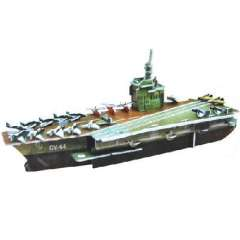 3D three-dimensional jigsaw puzzles trumpet - Aircraft Carrier ( 1205 )