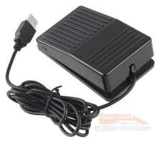USB Foot Switch Single Action HID Pedal Controller FS1 (Plastic)