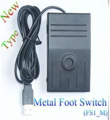 USB Foot Switch Single Action HID Pedal Controller Metal FS1_M