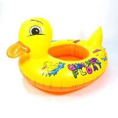 Small yellow duck inflatable baby swim boat / swimming laps