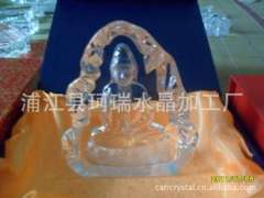 Supply | Crystal iceberg statues | difficult irregular pressure-type crystal | crystal handicraft factory Buddha