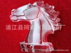 Supply | 3D Crystal Crafts | 3D-pressure crystal horse | Crystal Horsehead crafts wholesale