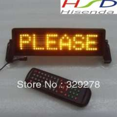 DHL Free shipping 20pcs\lot LED Car monitor screen Remote control indoor support English, Russian, Spain Yellow 254 *76.2*20mm