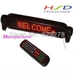 DHL Free shipping 6pcs\lot sale LED car Signs digit board led diplay Support Russian Spain Red color 7*50 pixel moving signs