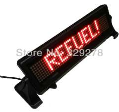 Free shipping(1pcs\lot)LED text display car Russian Spain with remote control, multi-language, car message sign animated, Red