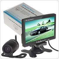 Wholesale TFT LCD Color 2 Video Input Car RearView Headrest Monitor DVD VCR Monitor + Car Camera