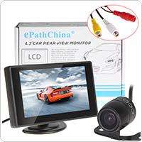 Wholesale 4.3 Inch Color TFT Car Monitor Support 480 x 272 Resolution + Car Camera