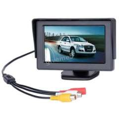 4.3 TFT LCD Car Monitor Rearview with LED backlight display for Camera DVD VCR Backup Color Suport PAL\NTSC
