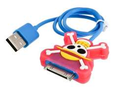 Skull Shaped Data Cable for iPhone iPod iPad (Blue)