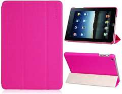 Faux Leather Folding Case for iPad mini (Pink)