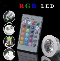 Hot selling 3w rgb led spotlight with remote controller