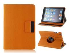 360° Rotation PU & Plastic Flip Case with Stand for iPad Mini (Brown)