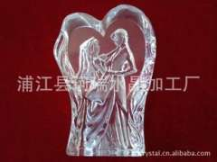 Supply | 3D pressure-type crystal crafts couple | Crystal couple | Large K5 crystal-pressure processing