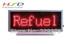 Fast&Free shipping, 3pieces\lot, LED display screens for advertising 16*48 Pixel Red color, 145*54*15mm