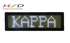Free shipping, 1piece\lot, 4'x1.3'x0.3' Programmable LED scrolling badge, White Color, 12*48 Dot