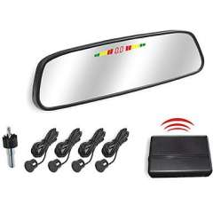 Wholesale Car Rearview Mirror with 4 Wireless Radar Parking Sensor System