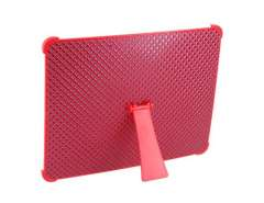 Hard Diamond Vein Back Cover Case with Stand for Apple iPad