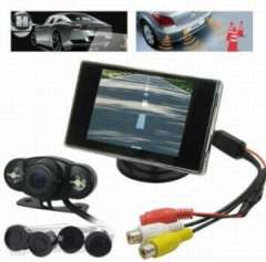 Wholesale Wireless Car Rearview Camera with 4 Parking Sensor