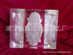Three dimensional carved Crystal goddess | High-end Crystal statue of religion | Crystal crafts gifts