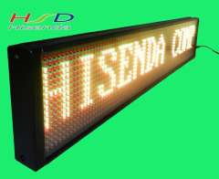 Free shipping P7.62mm LED moving signs display programmable message board Support Russian Spain English 16*96 Pixel