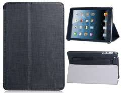 Faux Leather Flip Case with Amplifier for iPad mini (Black)