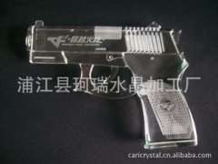 Supply | High quality crystal arts and crafts pistol | Crafts pistol | Crystal | Crystals