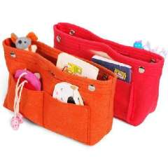 Korean version of the Pack finishing in pure felt storage bag bags | Rose Red