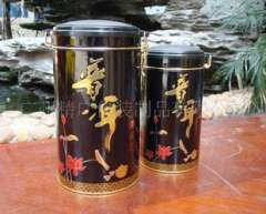 Tea cans wholesale | good luck buckle cover Pu'er Large / small | tea packaging | tin box fine