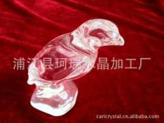 Supply | 3D K5 crystal eagle-pressure processing | crystal bird handicraft gift-pressure processing