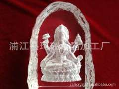 Supply | Crystal Crafts Decoration Religious | dimensional sculpture Hindu goddess Crystal Crafts Decoration