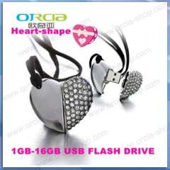 Supply heart-shaped U disk | crystal heart-shaped u disk | personality / cute u disk | Creative crystal heart-shaped U-8