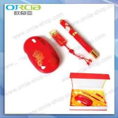 Supply Chinese red porcelain Business Gift Set | souvenirs meeting