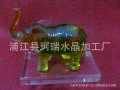 Suppliers | Glass Crafts Decoration | Elephant Glass Crafts Gift Decoration | Glass-pressure processing