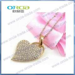 Supply ORCIAU disc lovely heart-shaped diamond USB Flash Drive USB U disk Valentine gift
