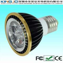Special design 4w par20 led light with gold-plating