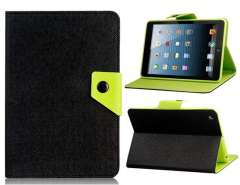 Color Contrast Faux Leather Flip Case with Stand for iPad mini (Black)