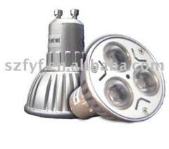Hot!3x3w gu10 led light with CE & ROHS