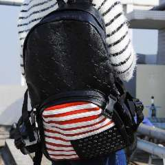 2013 The new five-star American flag embossed shoulder bag casual European and American men and women backpack schoolbag computer bag