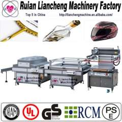 Full Automatic roll to roll screen press and screen printing hat press