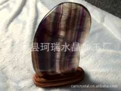 Supply | Natural stone | beautifully carved brightly lit natural purple fluorite