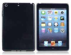Solid Color Plastic Case for iPad Mini (Black)