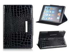 Patterned Dual-Fold Protective Case for iPad Mini (Black)