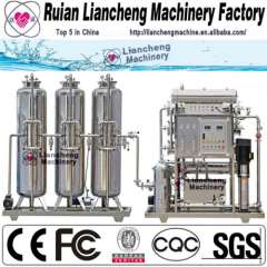 Pure water production line and drinking water production line